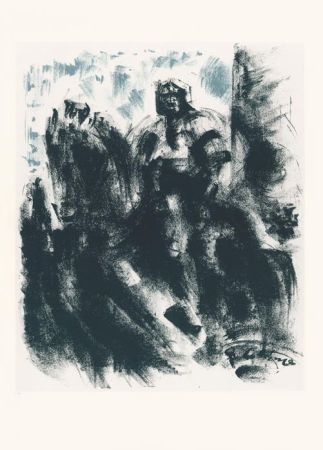 Литография Masson - Statue du Colleoni, la nuit (Voyage à Venise)