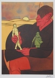 Литография Adami - Statuette