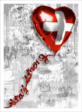 Сериграфия Mr. Brainwash - Stay Strong | Swiss