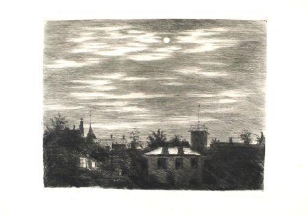 Гравюра Meid - Steglitzer Mondnacht