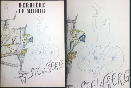 Иллюстрированная Книга Steinberg - STEINBERG. (avec dessin original signé et daté). Derrière le Miroir 1953