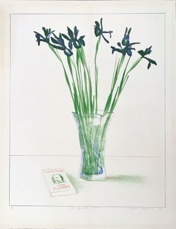 Литография Hockney - Still Life with Book