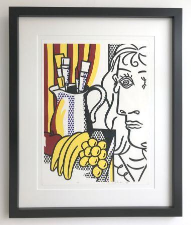 Сериграфия Lichtenstein - Still life with Picasso