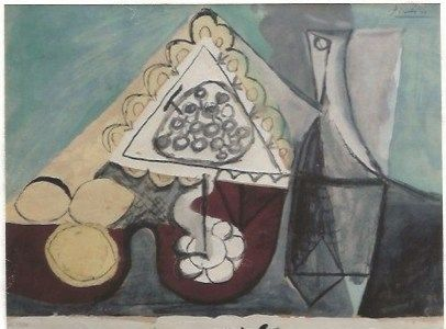 Трафарет Picasso - Still with grapes