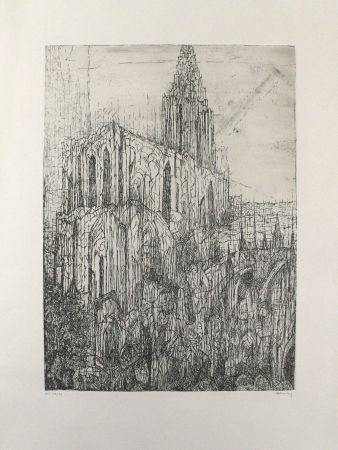 Гравюра Eliasberg - Strassburger Münster