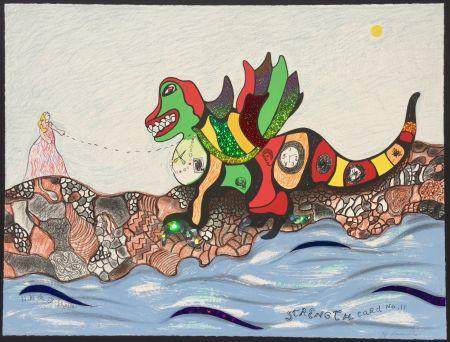 Литография De Saint Phalle - Strength - Card No.11