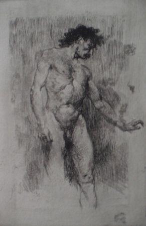 Офорт Bianchi - Studio di nudo maschile