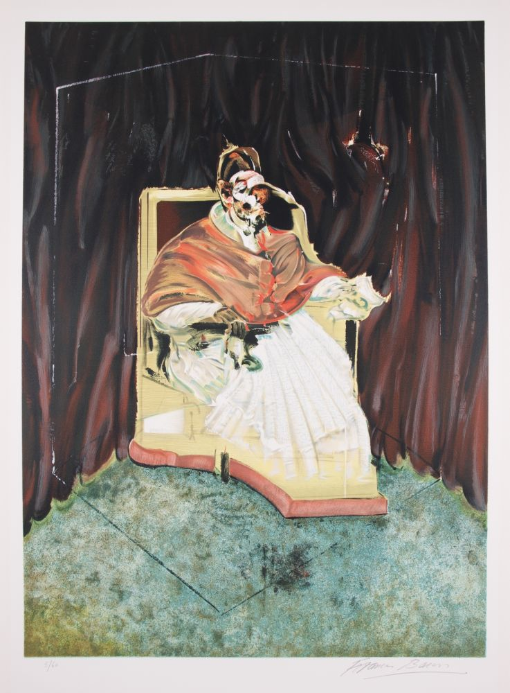 Литография Bacon - Study for Portrait of Pope Innocent X after Velasquez