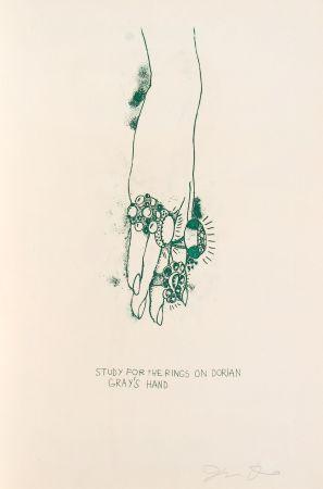 Литография Dine - Study for the Rings on Dorian Gray's Hand