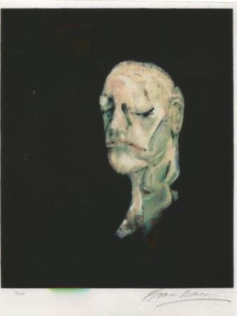 Литография Bacon - Study portrait after the life mask of William Blake