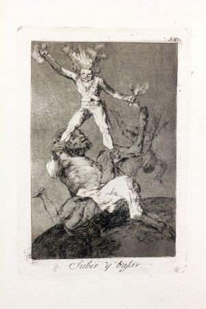 Офорт И Аквитанта Goya - Subir Y Bajar