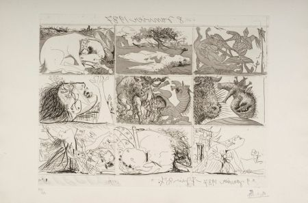 Офорт И Аквитанта Picasso - Sueno y Mentira de Franco
