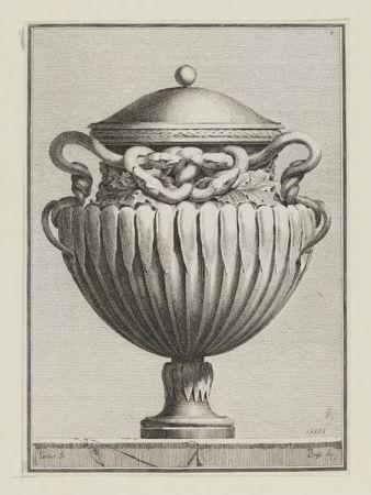 Гравюра Petitot - Suite des vases tirée du cabinet de Monsieur...