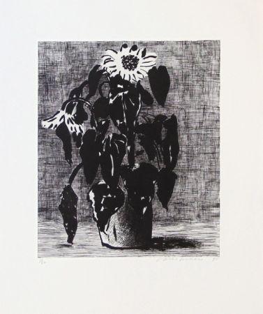Офорт И Аквитанта Hockney - Sunflowers I