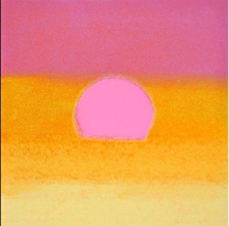 Сериграфия Warhol - Sunset(Unique)(Pink/yellow)
