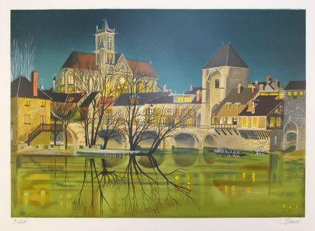 Литография Lecoindre - Sur les bords du fleuve