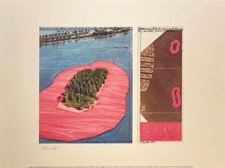 Литография Christo - Surronded islands, Miami