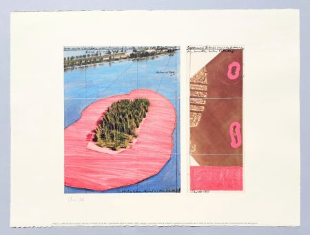 Литография Christo - 'Surrounded islands, project for Biscane Bay'