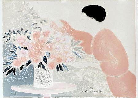Литография Brasilier - Symphonie en Rose