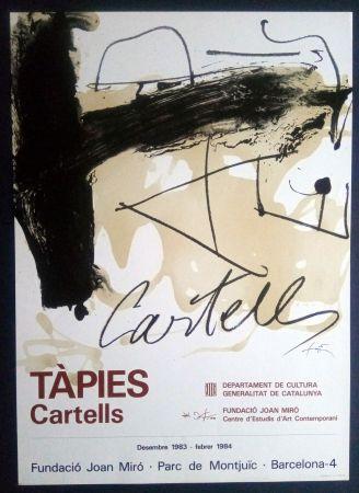Афиша Tàpies - TÀPIES CARTELLS - FUNDACIÓ MIRÓ 1983
