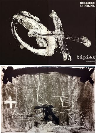 Иллюстрированная Книга Tapies - TÀPIES. Monotypes . Derrière le Miroir n° 210. Juin 1974