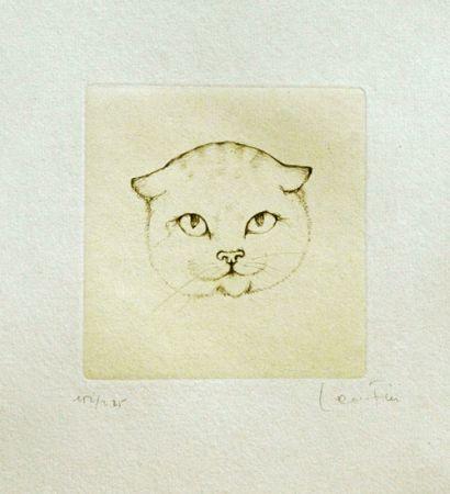 Гравюра Fini - Tête De Chat