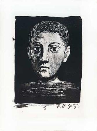 Литография Picasso - Tête De Jeune Garçon