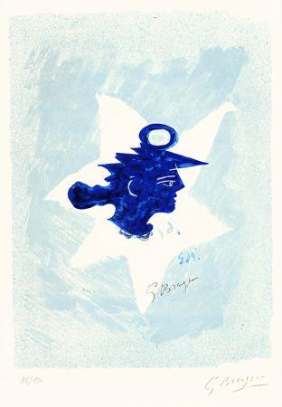 Литография Braque - Tête grecque (Grecian Head)
