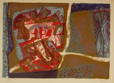 Литография Nieto - Tête rouge