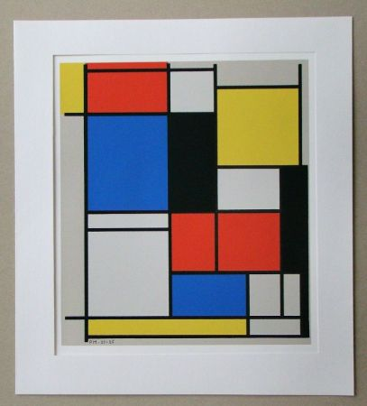 Сериграфия Mondrian - Tableau II. - 1921/25