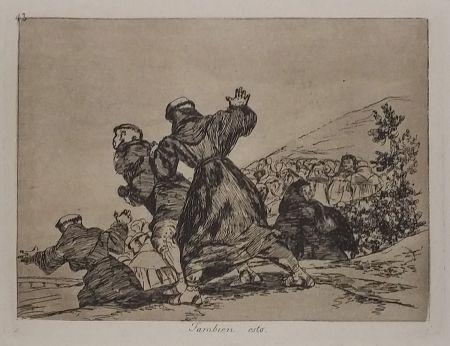 Гравюра Goya - TAMBIEN ESTO
