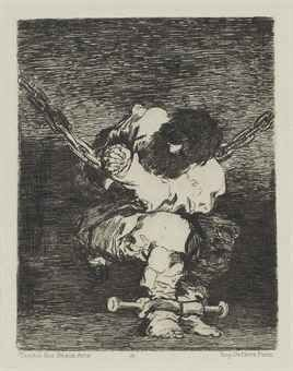 Гравюра Goya - Tan bárbara la seguridad como el delito (Little Prisoner)