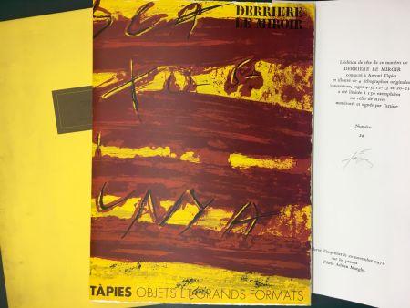 Иллюстрированная Книга Tapies - TAPIES : Objets et grands formats. DERRIÈRE LE MIROIR N° 200. 1972 - DE LUXE SIGNÉ.