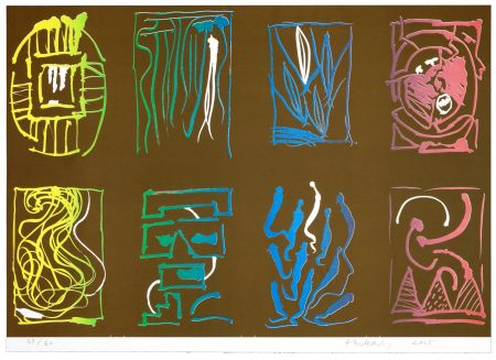 Литография Alechinsky - Tapis et Caries