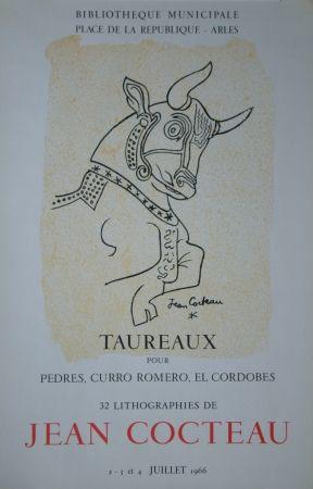 Литография Cocteau - Taureaux