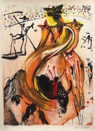 Литография Dali - Tauromaquia con mariposas