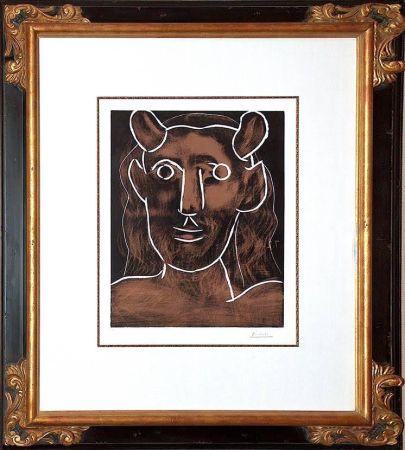 Линогравюра Picasso - Tete De Faune (B. 1094)