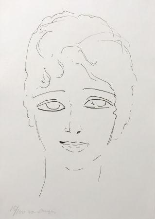 Литография Van Dongen - Tete de Femme