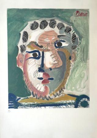 Литография Picasso - Tete D'homme Bardu