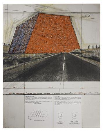 Сериграфия Christo - Texas Mastaba