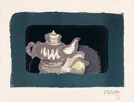 Литография Braque - Théière grise