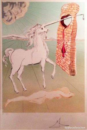 Литография Dali - The agony of love