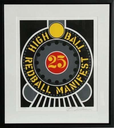 Сериграфия Indiana - The American Dream: High Ball Redball Manifest