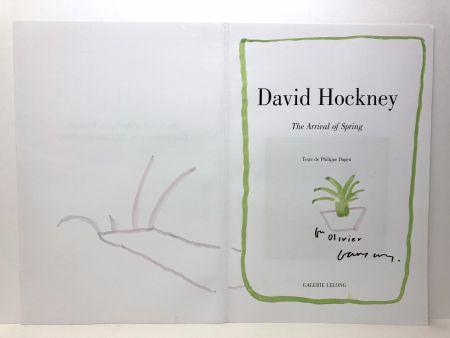 Нет Никаких Технических Hockney - The arrivalofthespring. Dessin à l'aquarelle. Signé