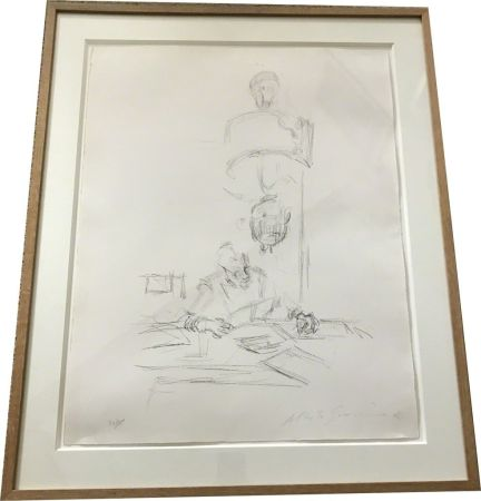 Литография Giacometti - The artists mother reading
