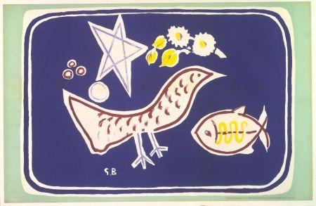 Литография Braque - The bird