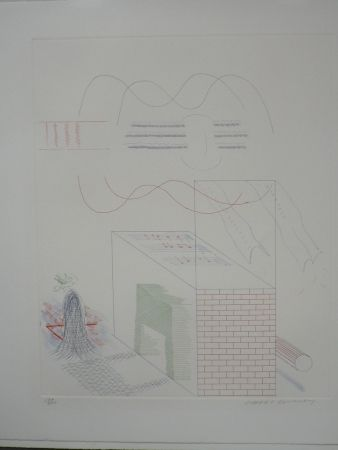 Офорт Hockney - The buzzing of the blue guitar (from the blue guitar)
