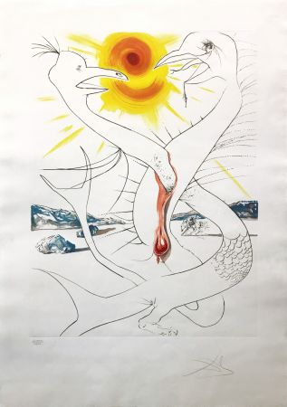 Офорт Dali - THE CADUSEUS OF MARS NOURISHED BY THE BALL OF FIRE OF JUPITER