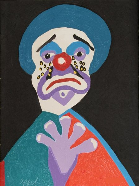 Офорт И Аквитанта Appel - The clown with the golden tears