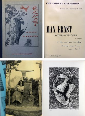 Офорт Ernst - The Copley Galleries. At Eye Level. Paramyths. Max Ernst, 30 years of his work.